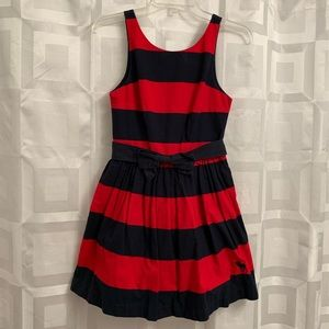 Abercrombie and Fitch red navy stripe skater dress
